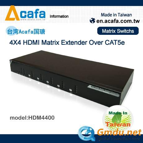 HDM4410K 4x4 HDMI Matrix switch Splitter extender-Taiwan