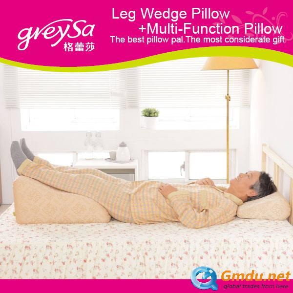 Leg Wedge Pillow+Multi-Function Pillow