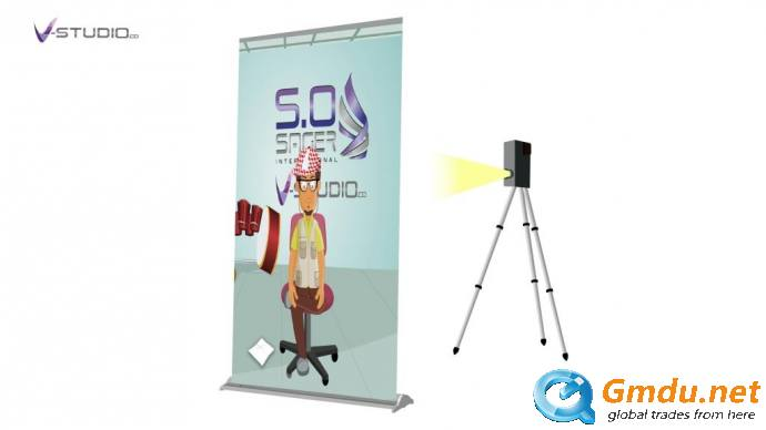 Roll Up Banner With Video Screen By V Studio Saudi Arabia