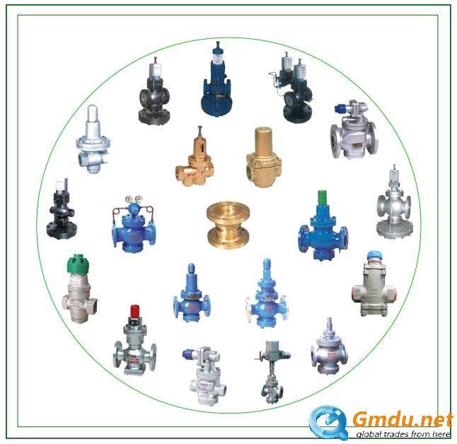 Pilot piston type gas pressure reducing valve