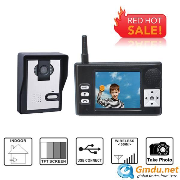 3.5Inch Wireless video door phone/ Wireless video intercom