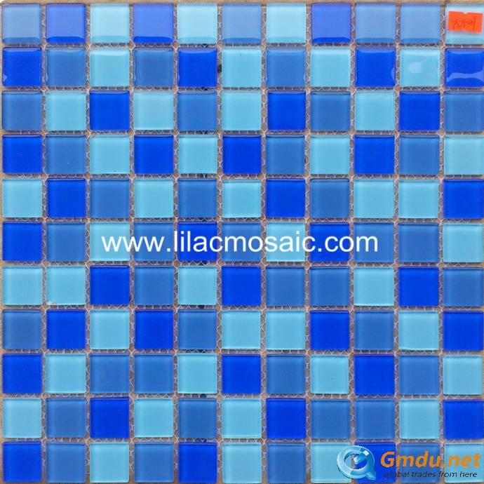 Blue Blend Glass Mosaic For Swimming Pool