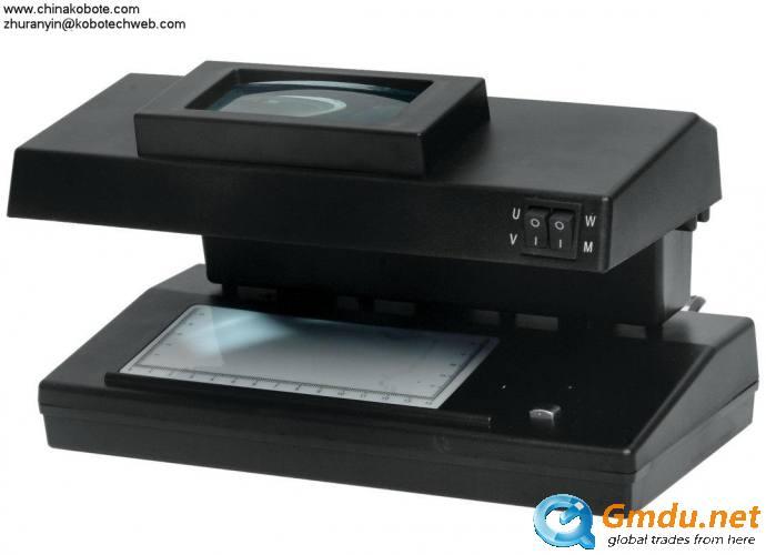 Kobotech KB-104 Fake Note Detector Series UV lamp White light Magnify glass MG detection