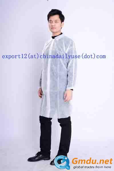 Non woven lab coats polypropylene lab coats with collar