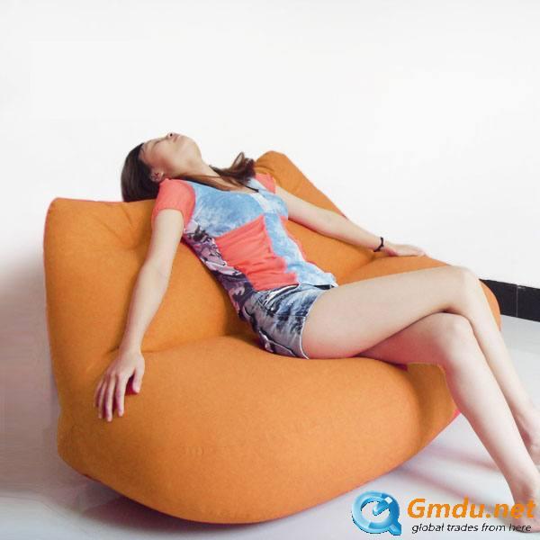 Indoor double seat lip shape beanbag chair