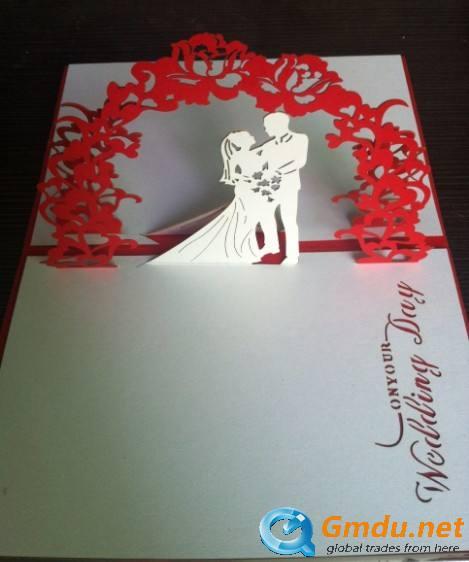 Handmade 3 D wedding card