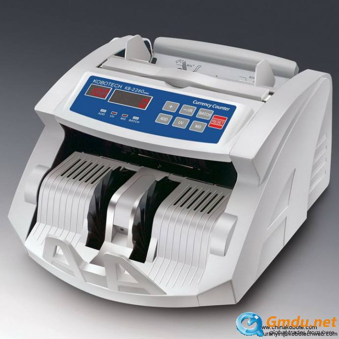 Kobotech KB-2260 Back Feeding Money Currency Bill Cash Note Counter Counting Machine