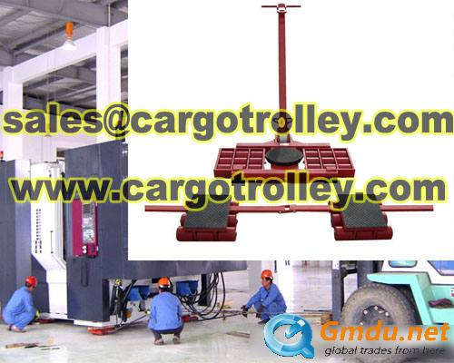 Cargo trolley applied on warehouse and storage