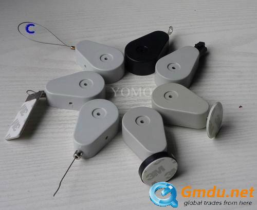 Retractors and Tethers for Retail Store Displays,Pull Box Merchandise Recoiler with Loop End/stop end/EYELET END/Display Deck En