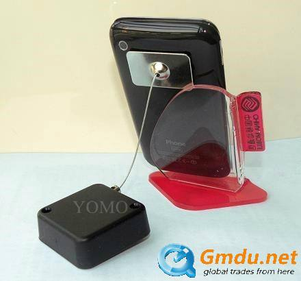Mini Square Security Pull Box,Anti-shoplifting Recoilers,mechanical recoiler,Mechanical security,steel cabled mechanical retract