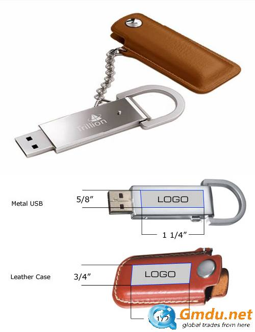Elegant And Professional Leather Flash Drive
