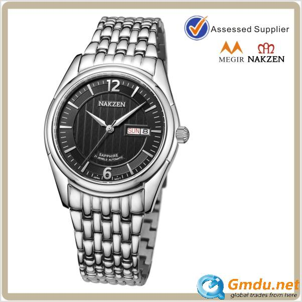 All stainless steel sapphire glass luminous pointer multi-function automatic mechanical wrist watch