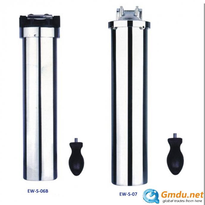 stainless steel under sink water filter purifier with gauge