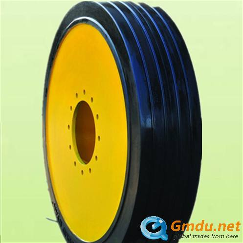 industrial solid tires with rims