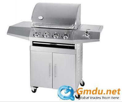 4Burner Stainless Steel 1Side Burner Gas Grill BBQ
