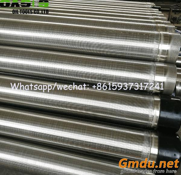 continuous slot water well screens pipe