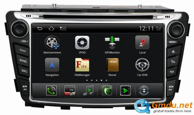 Ouchuangbo DVD GPS Sat Navi for Hyundai Verna /Solaris/Accent with Built-in radio tuner Bluetooth