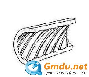 LWC inner grooved aluminum pipe