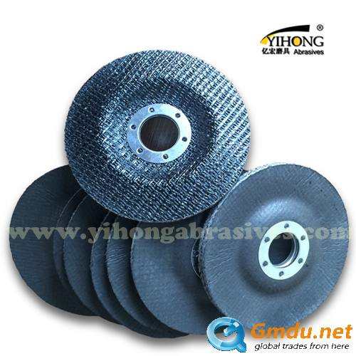 Fiberglass backing plate for flap disc