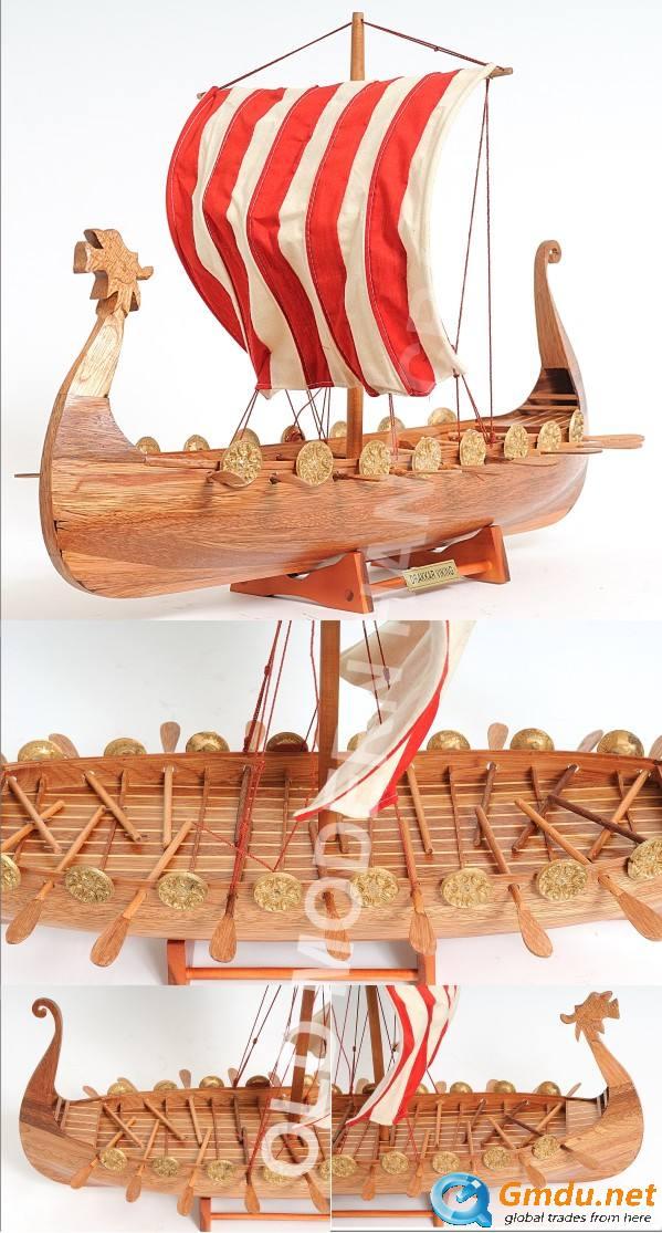 Drakkar Viking High quality handmade wooden model boat