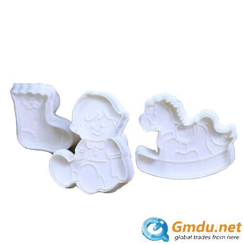 Cake decorating fondant plunger cutter set