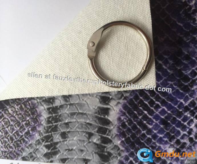 Snakeskin Vinyl Fabric , Shoe Material , Good Hydrolysis Resistance