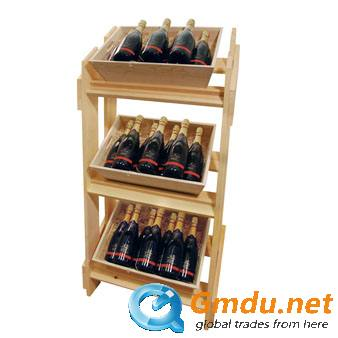Wine Wooden display stand