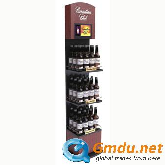 Wooden bottle display stand