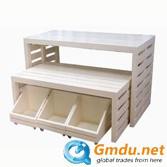 Wooden apparel display stand