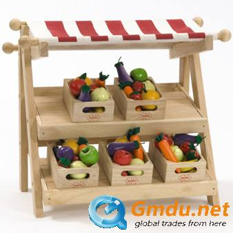 Wooden toys display stand