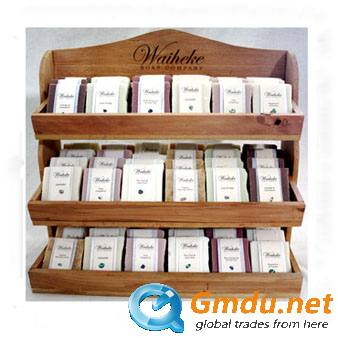 Wooden facial mask display stand