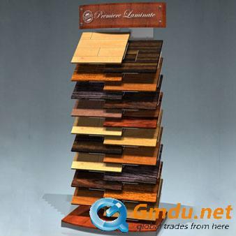 Wooden floorings display stand