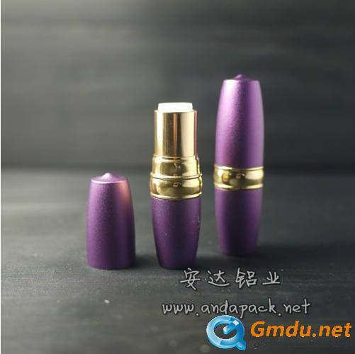 purple empty lipstick tube