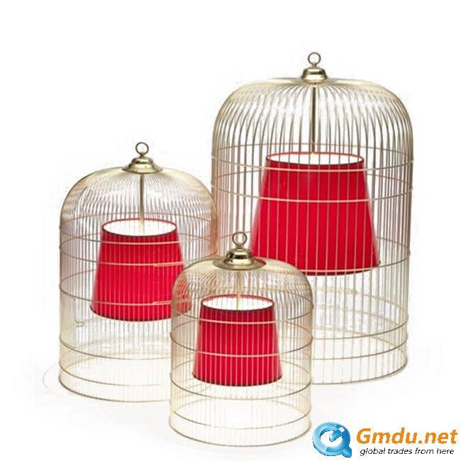 Rust cage pendant light