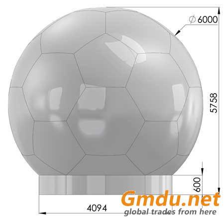 Radiotransparent fiberglass antenna radome