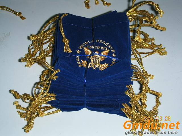 Promotional Coin Bag & Blue Velvet Coin Bags