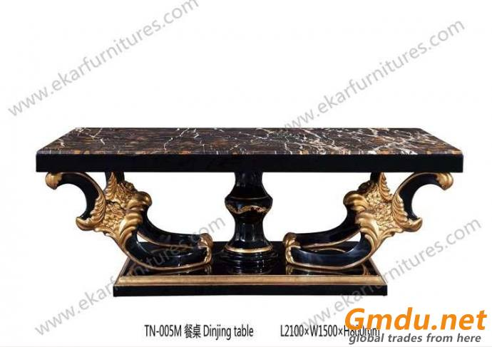 Large Dining Set For Sale Carved Solid Wood Dining Table 6 Chairs Set