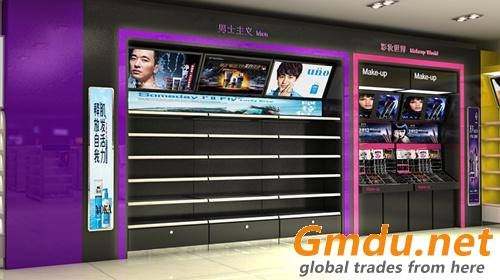 Cosmetics Retail Wall Display Cabinet
