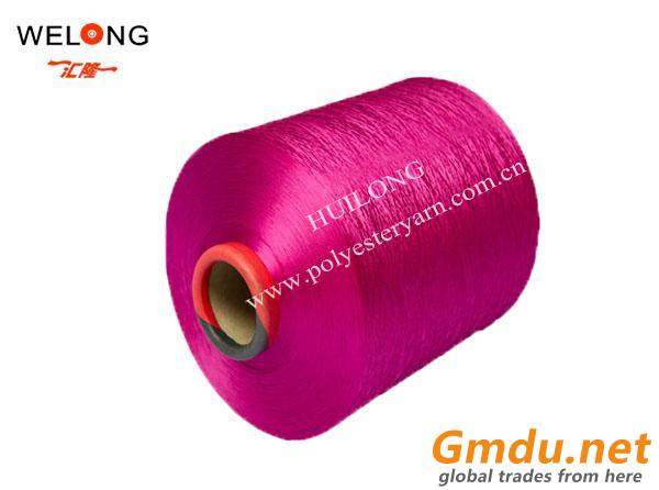 100% polyester dty colored yarns