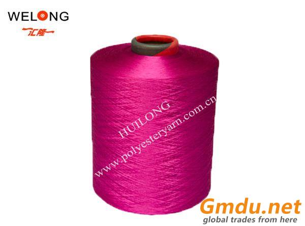 120d colored bright dty polyester yarns