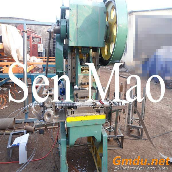 25 Tons Punching Machine,nine strips razor wire makign machine