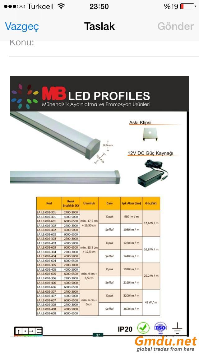 Led polycarbonate profiles