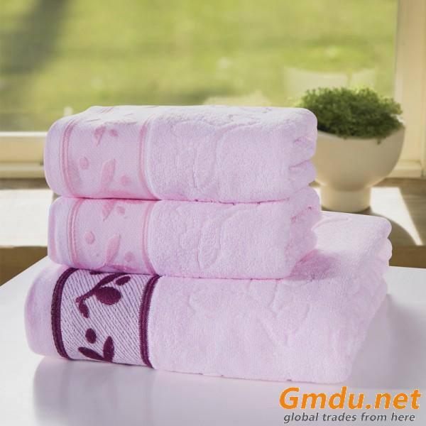 100% Cotton Towels Set of 3 Pcs