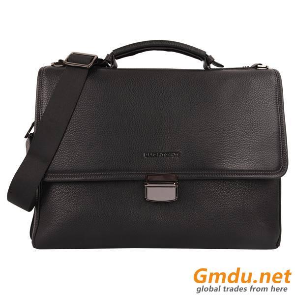 Genuine calf leather men briefcase handbag