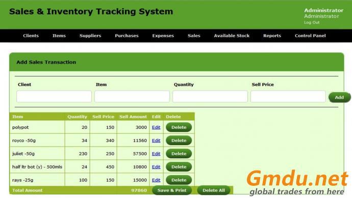 Transaction Calculator Software