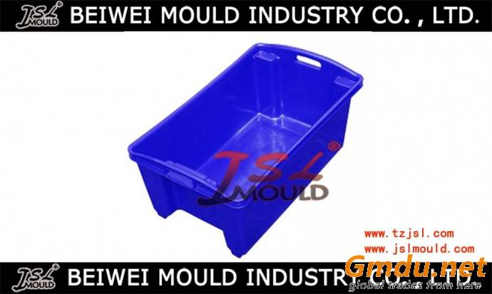 Injection plastic fish bin mould