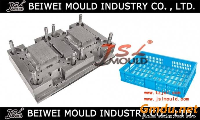 Injection plastic vegetable crate mould
