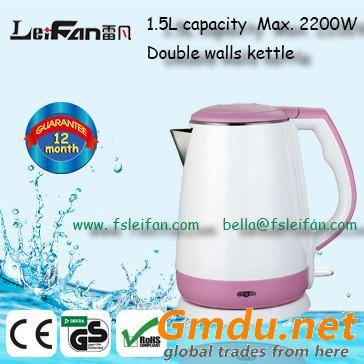1.5L cool touch cordless electric kettle
