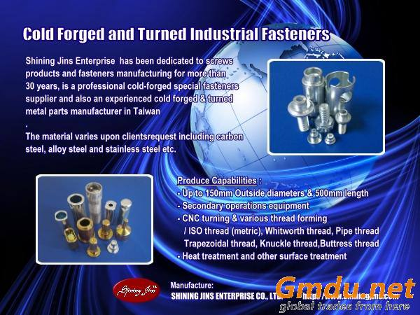 Cold forged fasteners made in Taiwan
