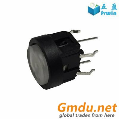10mm illuminated LED tact Button switch with laser cap